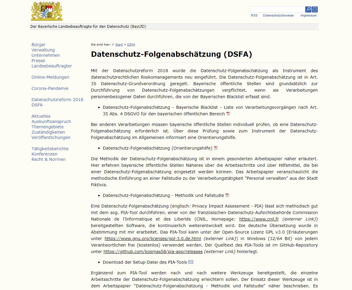 2020-03-25 21_05_54-BayLfD_ Datenschutz-Folgenabschätzung (DSFA)
